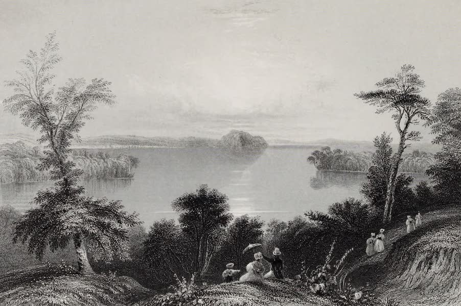 American Scenery Vol. I - Saratoga Lake (1840)