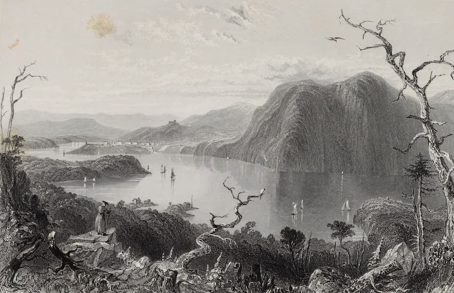 American Scenery Vol. I - Crow - Nest from Bull Hill (Hudson River) (1840)