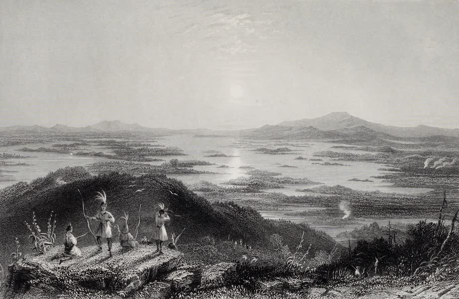 American Scenery Vol. I - Lake Winnipisseogee, from Red Hill (1840)