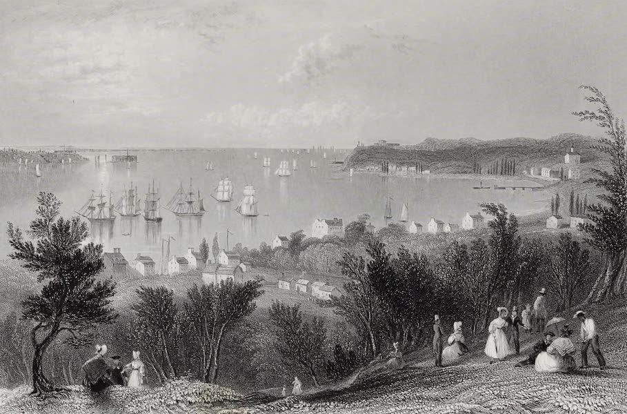 American Scenery Vol. I - The Narrows from Staten Island (1840)