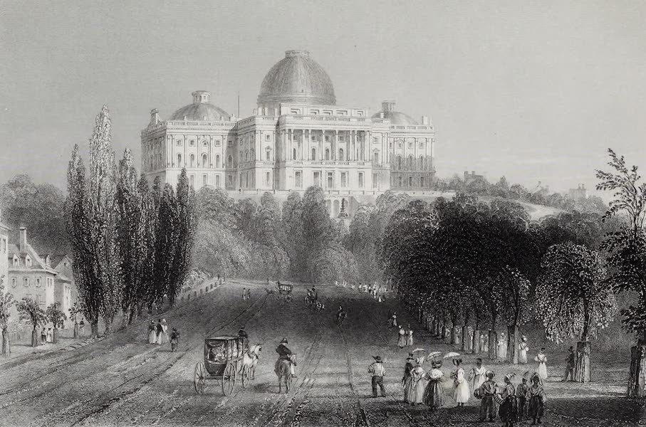 American Scenery Vol. I - View of the Capitol at Washington (1840)