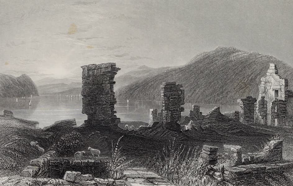American Scenery Vol. I - View of the Ruins of Fort Ticonderoga (1840)