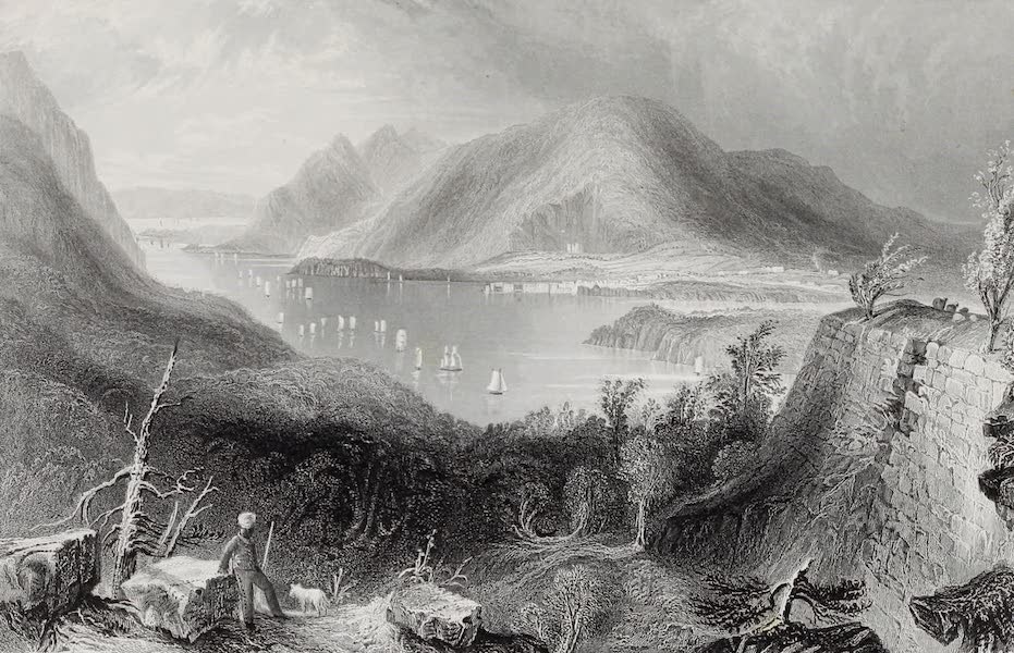 American Scenery Vol. I - View from Fort Putnam (Hudson River) (1840)