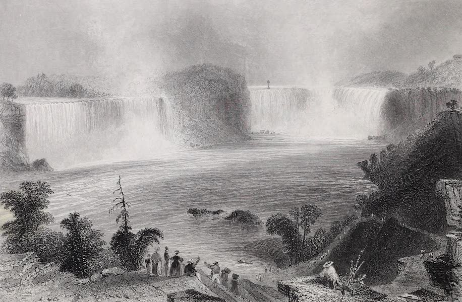 American Scenery Vol. I - Niagara Falls (from near Clifton House) (1840)