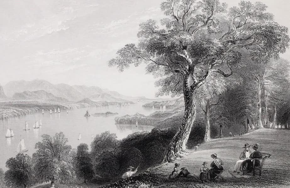 American Scenery Vol. I - View from Hyde Park (Hudson River) (1840)