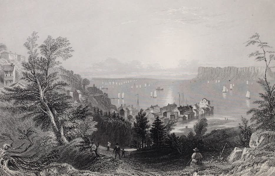 American Scenery Vol. I - Village of Sing - Sing (Hudson River). (1840)