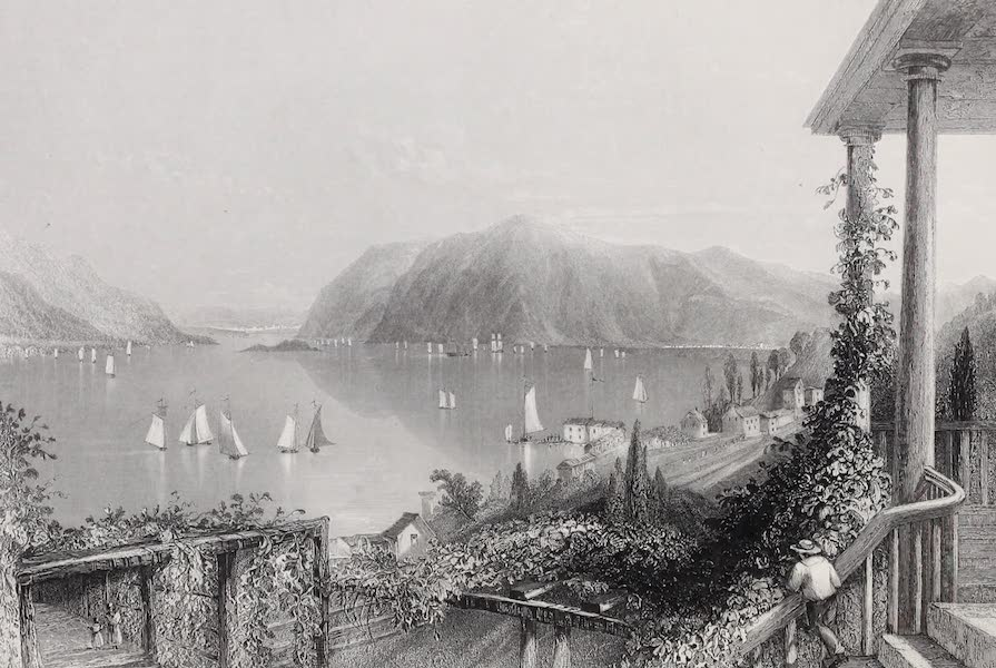 American Scenery Vol. I - View from Ruggle's House, Newburgh (Hudson River) (1840)