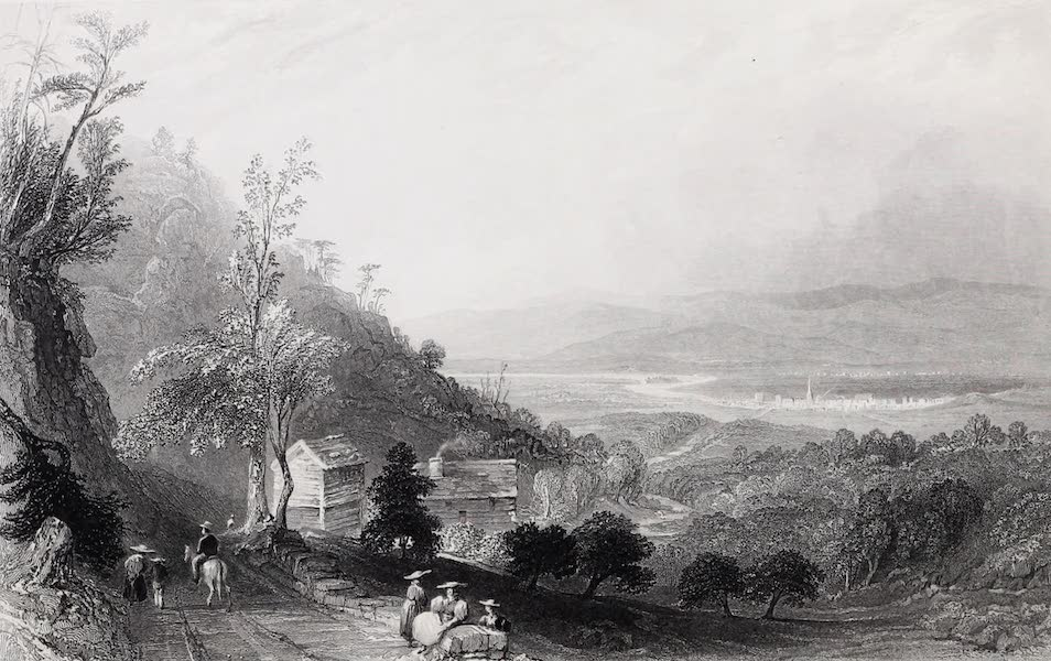 American Scenery Vol. I - The Descent into the Valley of Wyoming (Pennsylvania) (1840)