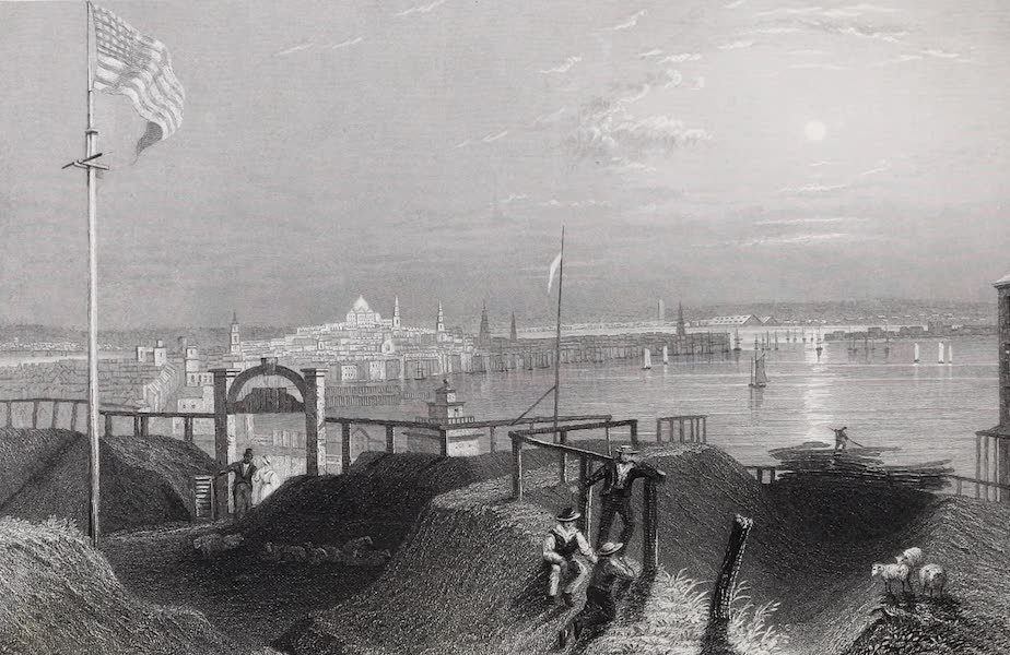 American Scenery Vol. I - Boston from the Dorchester Heights (1840)