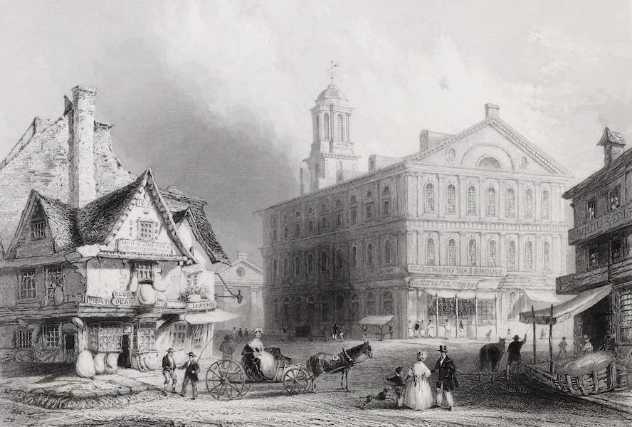 American Scenery Vol. I - Faneuil Hall, Boston (1840)