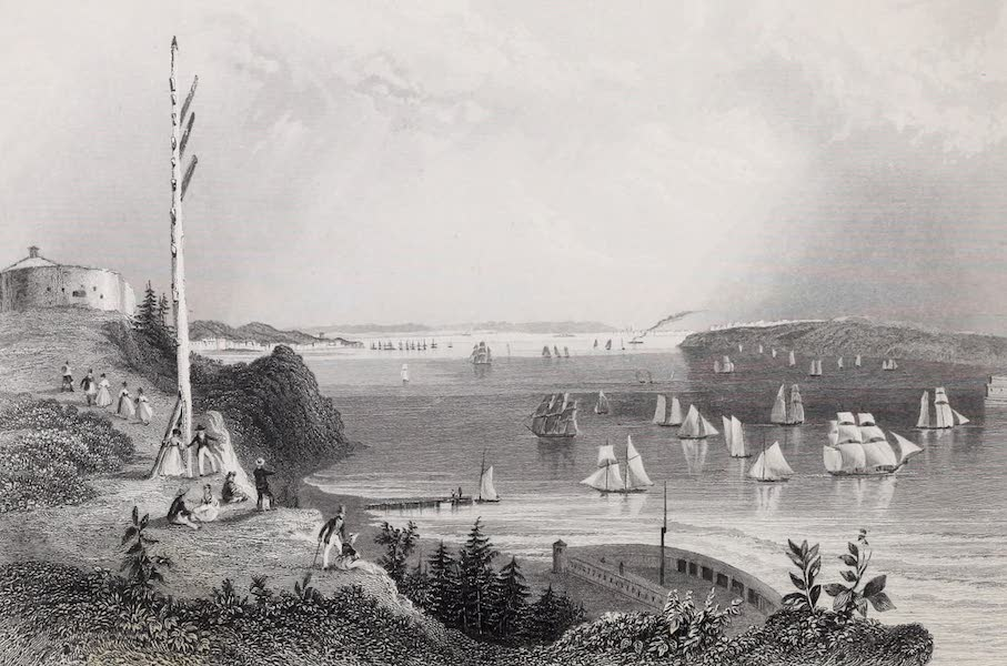 American Scenery Vol. I - New York Bay (from the Telegraph Station) (1840)