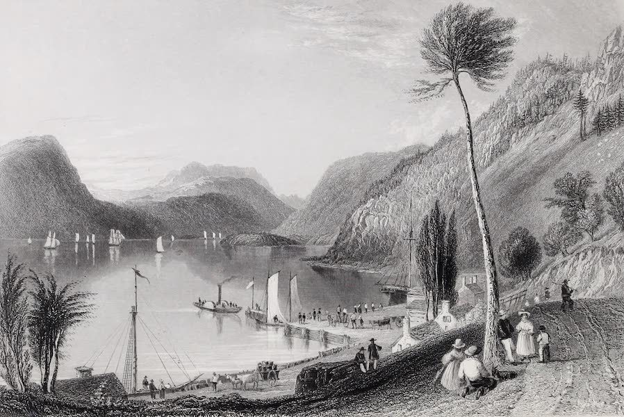 American Scenery Vol. I - Peekskill Landing (Hudson River) (1840)