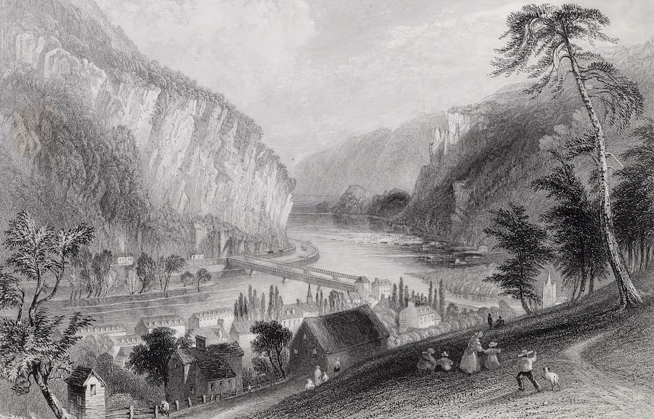 American Scenery Vol. I - Harpers Ferry (from the Potomac side) (1840)