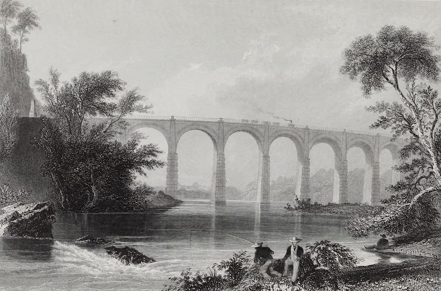 American Scenery Vol. I - Viaduct on Baltimore and Washington Railroad (1840)