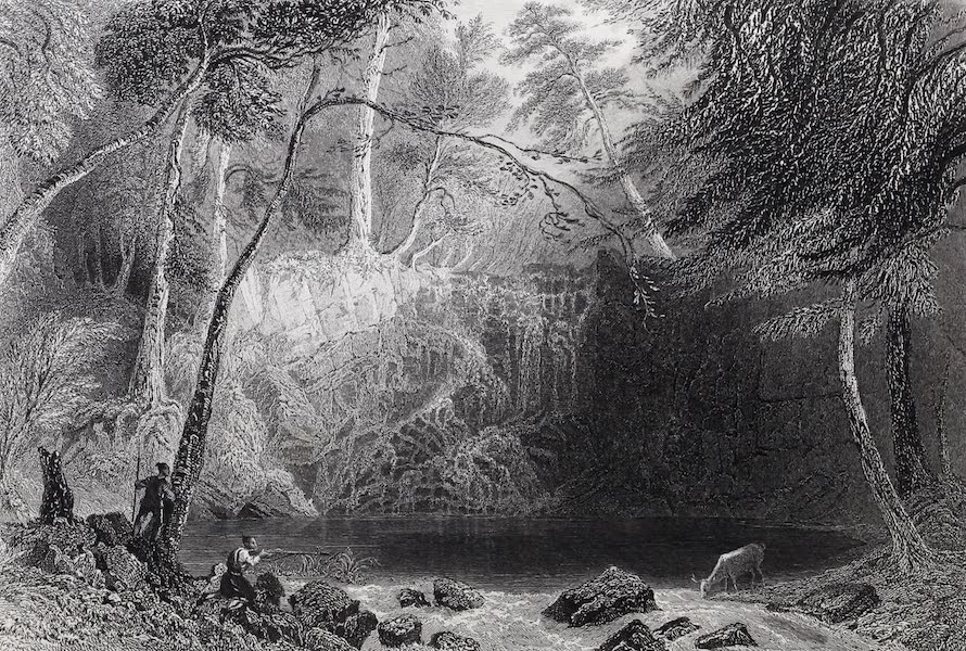 American Scenery Vol. I - The Indian Falls - near Cold-Spring (opposite West Point) (1840)