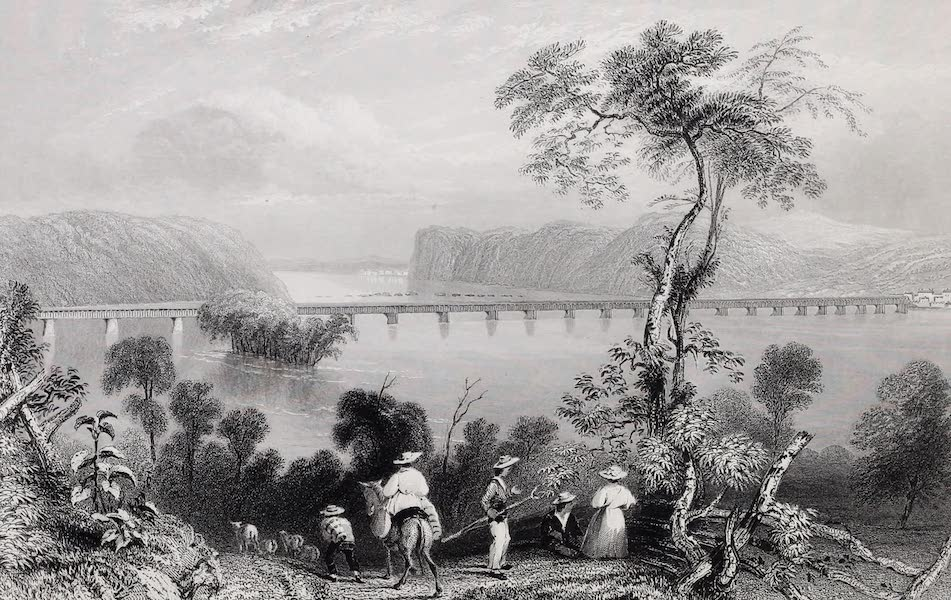 American Scenery Vol. I - Columbia Bridge (on the Susquehanna) (1840)