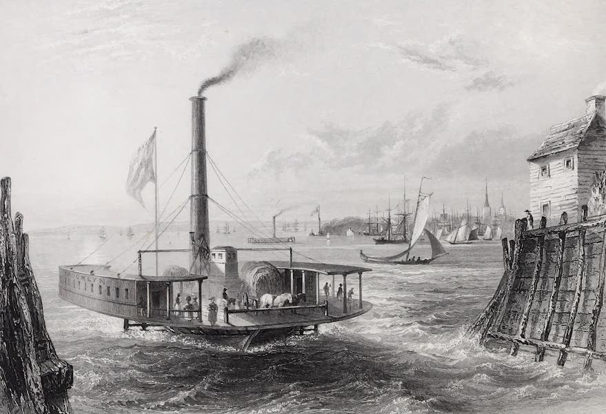 American Scenery Vol. I - The Ferry at Brooklyn, New York (1840)