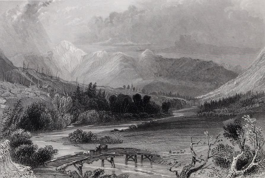 American Scenery Vol. I - Mount Washington, and the White Hills (from near Crawford's) (1840)