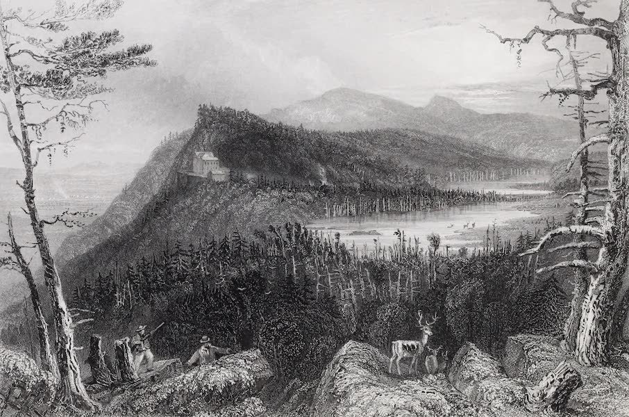 American Scenery Vol. I - The Two Lakes and the Mountain House on the Catskills (1840)