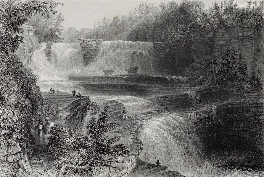 American Scenery Vol. I - Trenton High Falls (1840)