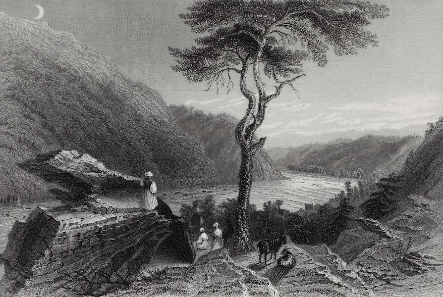 American Scenery Vol. I - The Valley of the Shenandoah, from Jeffersons Rock (Harper's Ferry) (1840)