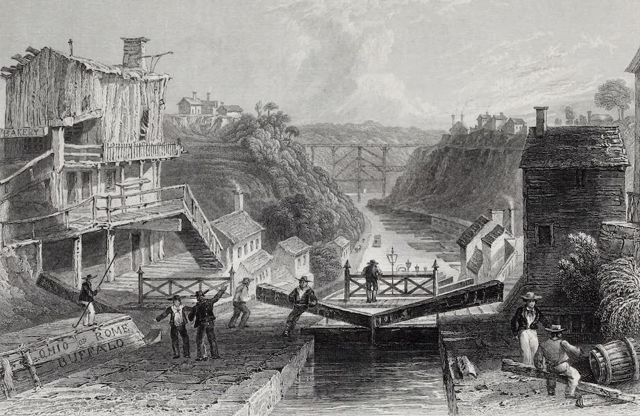 American Scenery Vol. I - Lockport, Erie Canal (1840)