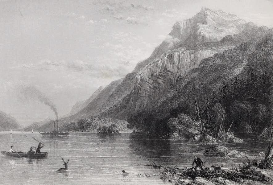 American Scenery Vol. I - Black Mountain (Lake George) (1840)