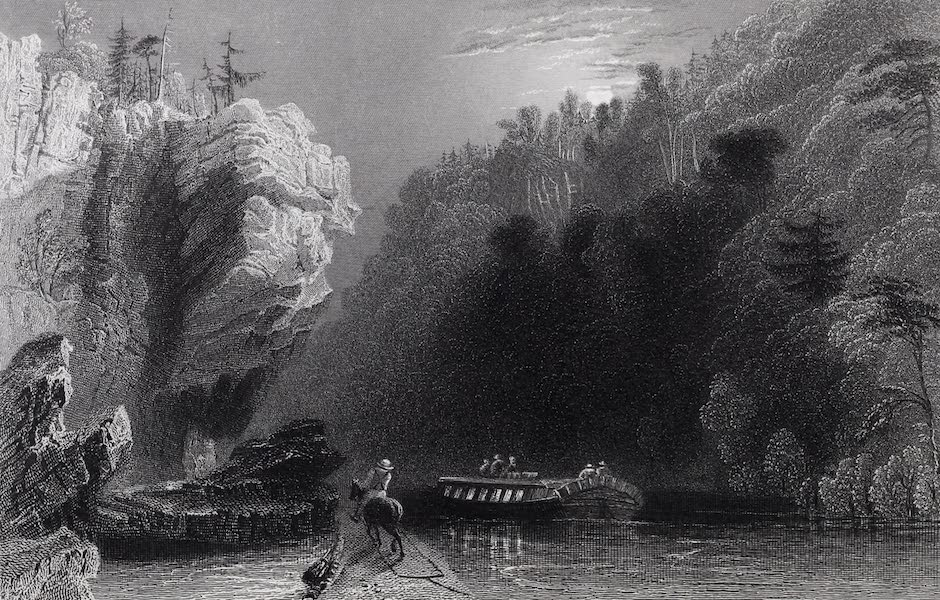 American Scenery Vol. I - View on the Erie Canal near Little Falls (1840)