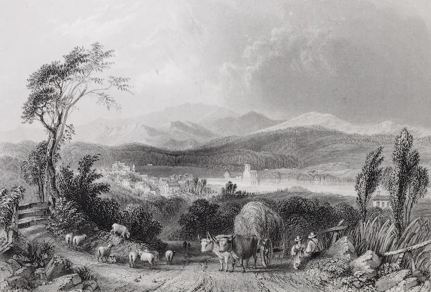 American Scenery Vol. I - View of Meredith (New Hampshire) (1840)