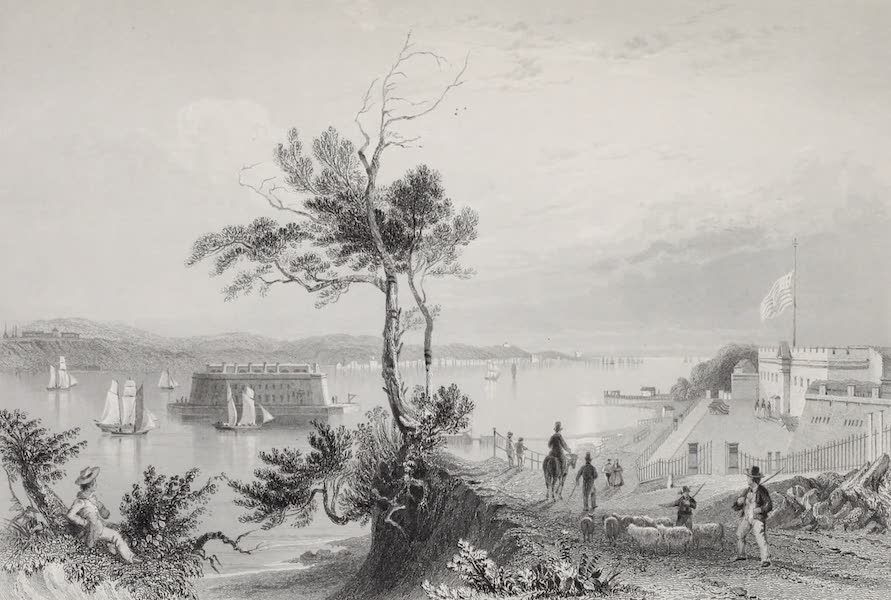 American Scenery Vol. I - The Narrows (from Fort Hamilton) (1840)