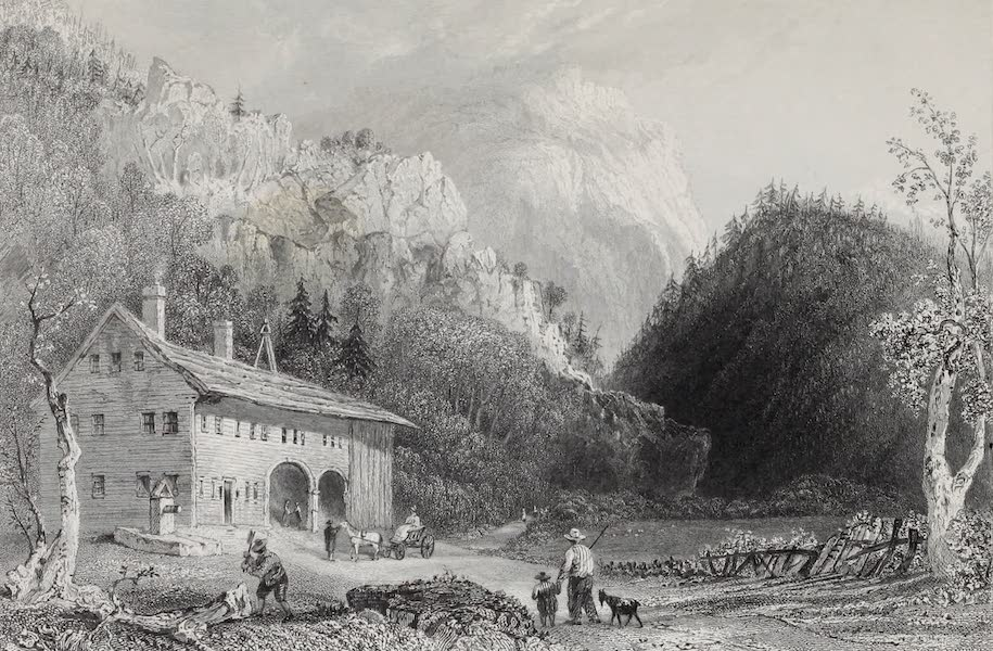 American Scenery Vol. I - The Notch House, White Mountains (New Hampshire) (1840)