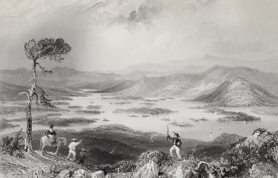 American Scenery Vol. I - Squawm Lake (New Hampshire) (1840)