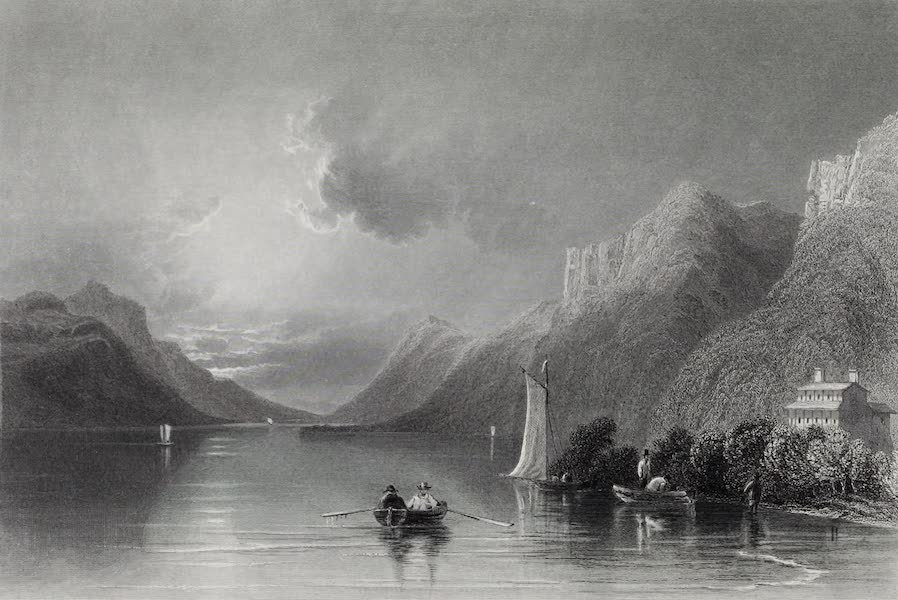 American Scenery Vol. I - Sabbath Day Point (Lake George) (1840)