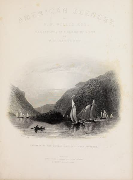 American Scenery Vol. II - Illustrated Title Page (1840)