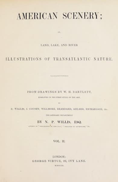American Scenery Vol. II - Title Page (1840)