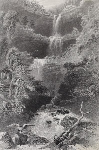 American Scenery Vol. II - The Catterskill Fall (from below) (1840)