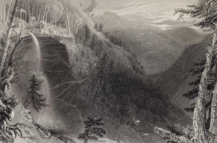 American Scenery Vol. II - The Catterskill Falls (from above the Ravine) (1840)