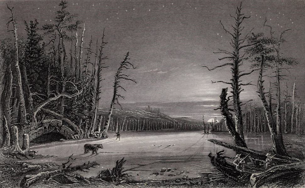American Scenery Vol. II - Winter Scene on the Catterskills (1840)