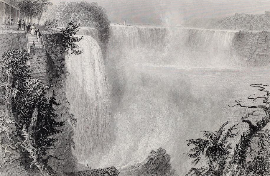 American Scenery Vol. II - Niagara Falls (from the top of the ladder, on the American Side) (1840)