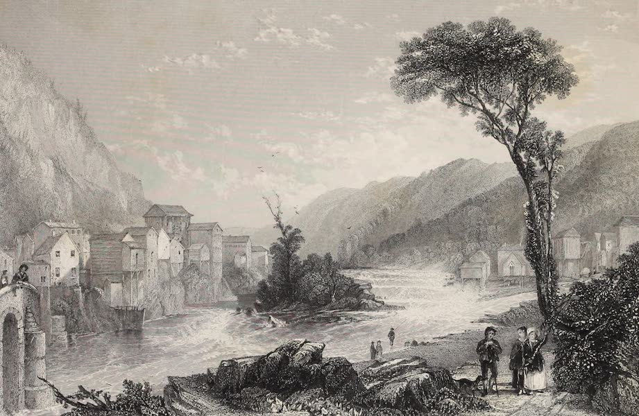 American Scenery Vol. II - Little Falls (on the Mohawk) (1840)