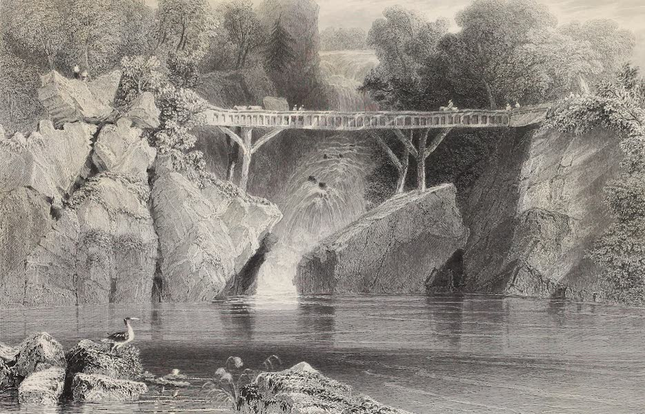 American Scenery Vol. II - Bridge at Norwich (Connecticut) (1840)