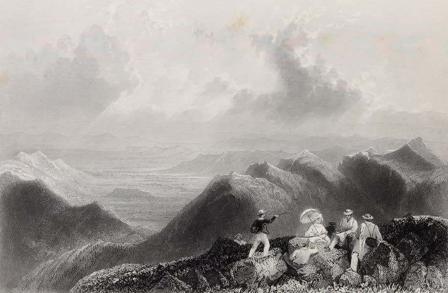 American Scenery Vol. II - Mount Jefferson (from Mount Washington) (1840)