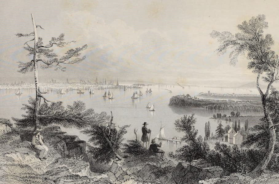 American Scenery Vol. II - View of New York, from Weehawken (1840)