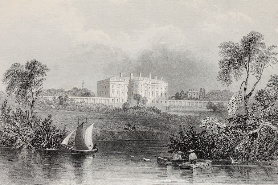 American Scenery Vol. II - The President's House, from Washington (1840)