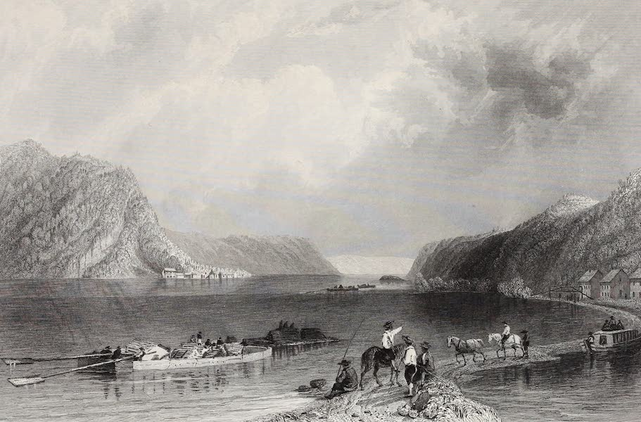 American Scenery Vol. II - View on the Susquehannah, at Liverpool (1840)