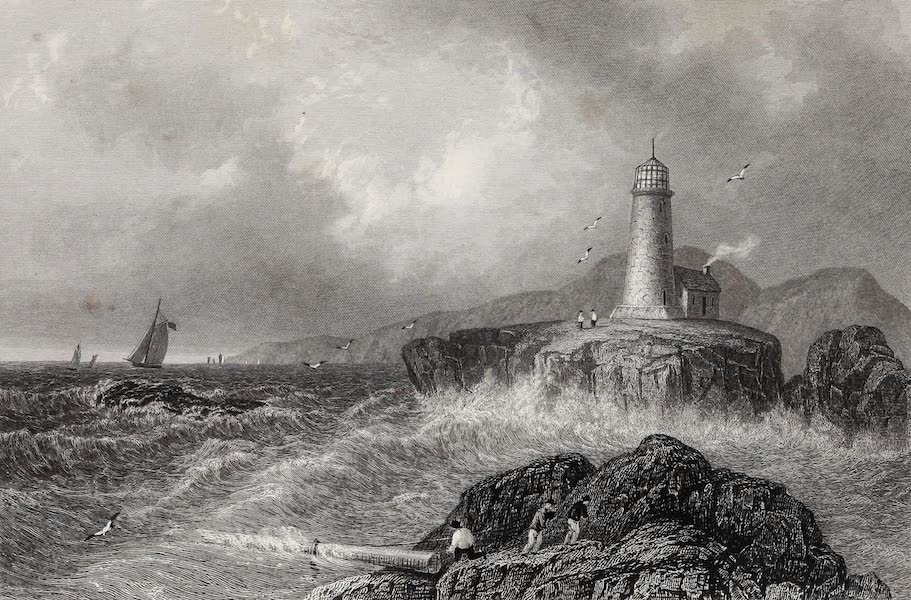 American Scenery Vol. II - Desert Rock Light House (Maine) (1840)