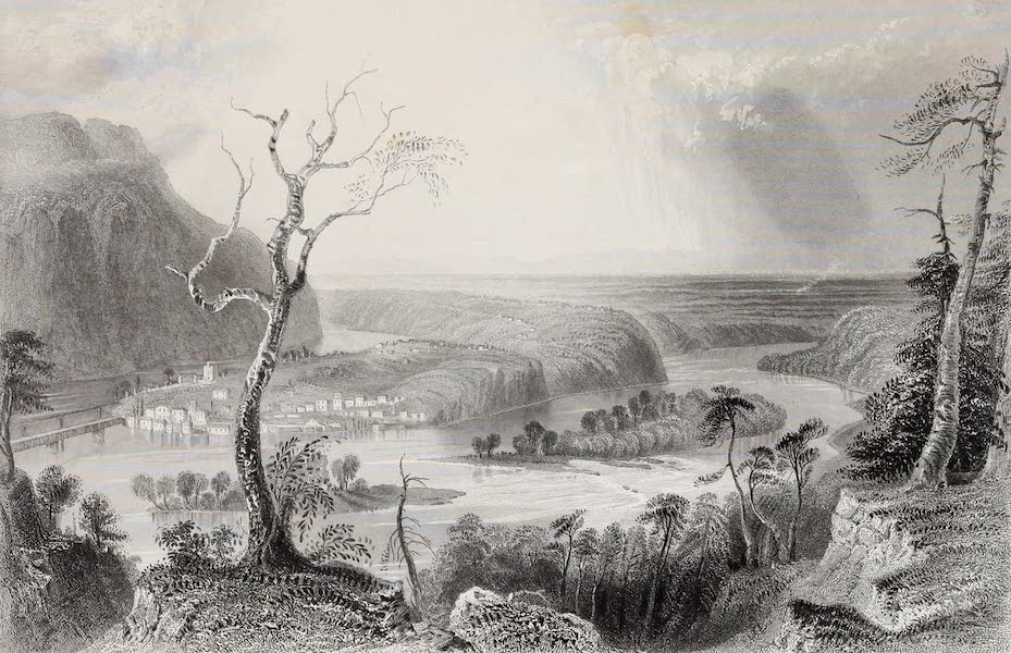 American Scenery Vol. II - Harper's Ferry (from the Blue Ridge) (1840)