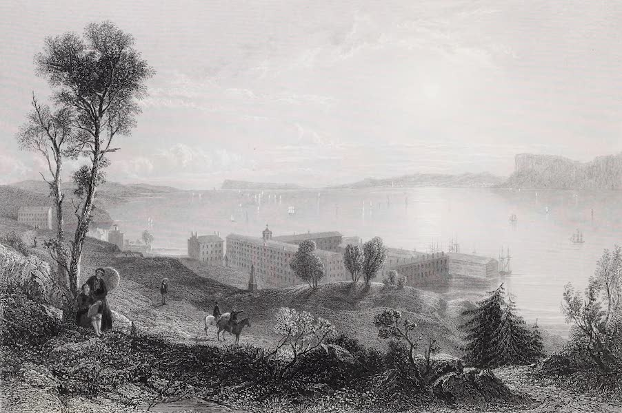 American Scenery Vol. II - Sing Sing Prison and Tappan Sea (1840)