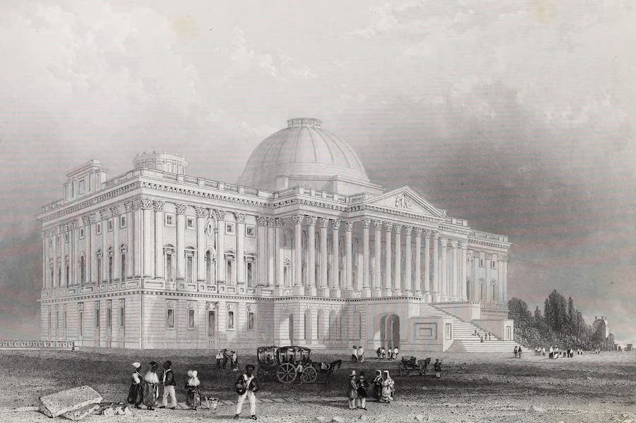 American Scenery Vol. II - Principal Front of the Capitol Washington (1840)