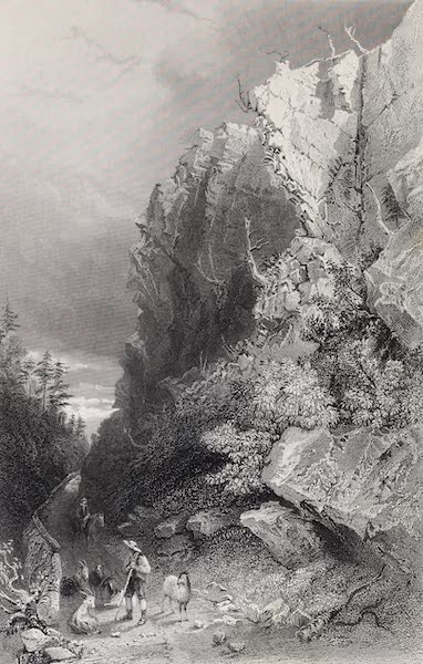 American Scenery Vol. II - Pulpit Rock (White Mountains) (1840)